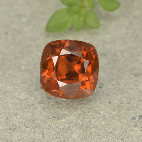 1.8ct Cushion-Cut Reddish Orange Hessonite Garnet Gem (ID: 499255)