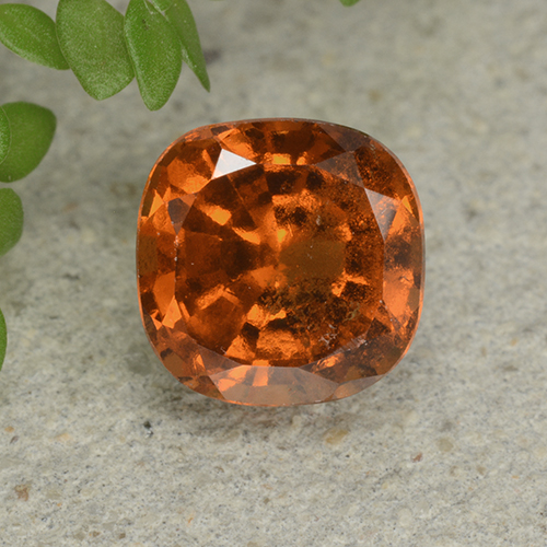 Amber Orange Granate Hesonita Gema - 1.8ct Corte en Forma Cojín (ID: 499256)