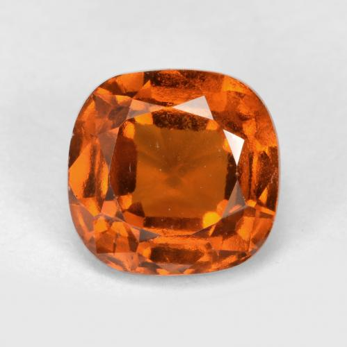 1.9ct Cushion-Cut Deep Orange Hessonite Garnet Gem (ID: 499257)