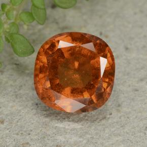 1.8ct Cushion-Cut Reddish Orange Hessonite Garnet Gem (ID: 499258)