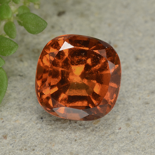 1.9ct Cushion-Cut Medium Orange Hessonite Garnet Gem (ID: 499259)