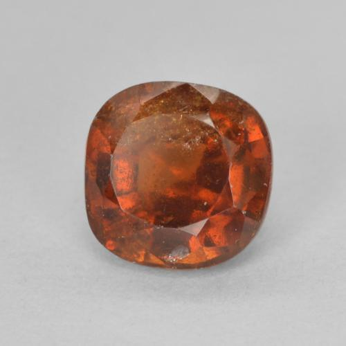 1.9ct Cushion-Cut Fire Orange Hessonite Garnet Gem (ID: 499261)