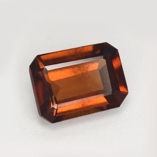 Orange Hessonite Garnet Gem - 2.2ct Octagon Step Cut (ID: 511317)