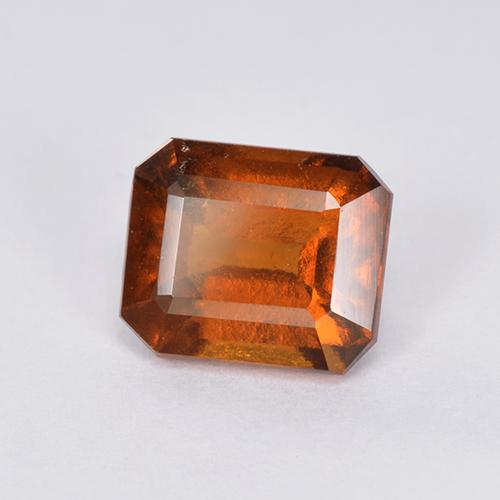 Orange Hessonite Garnet Gem - 2.1ct Octagon Step Cut (ID: 511320)