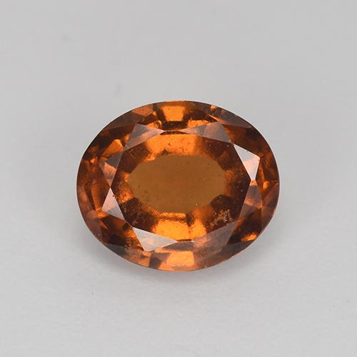 Orangeish Brown Grenat Hessonite gemme - 1.9ct Ovale facette (ID: 512776)