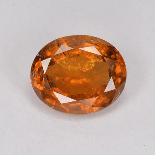 Medium-Dark Orange Granato essonite Gem - 2ct Ovale sfaccettato (ID: 512791)