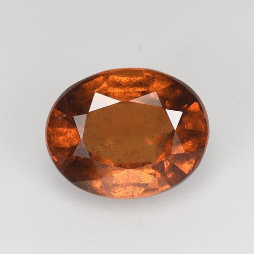 Orange Hessonite Garnet Gem - 1.7ct Oval Facet (ID: 512927)