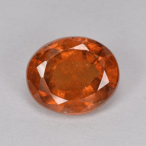 Amber Orange Granate Hesonita Gema - 2.2ct Forma ovalada (ID: 514787)