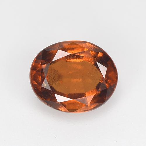 Amber Orange Granate Hesonita Gema - 1.3ct Forma ovalada (ID: 517486)