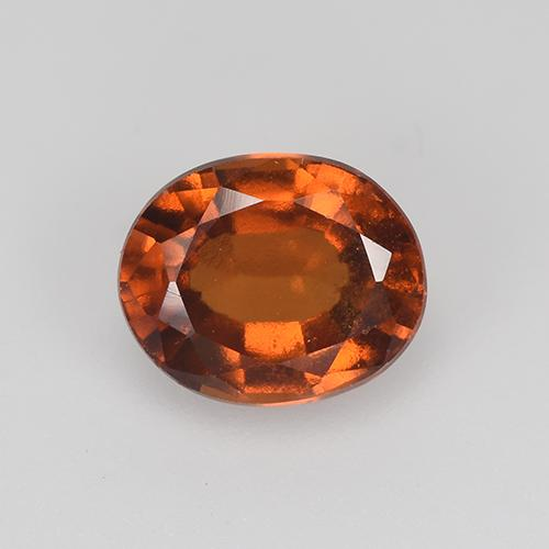 Amber Orange Granate Hesonita Gema - 1.9ct Forma ovalada (ID: 517807)