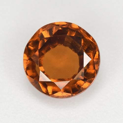 Amber Orange Granate Hesonita Gema - 1.7ct Faceta Redonda (ID: 519894)