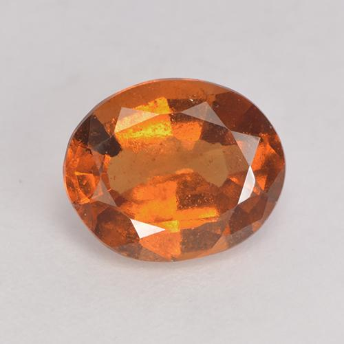 Medium-Dark Orange Granato essonite Gem - 1.7ct Ovale sfaccettato (ID: 528892)