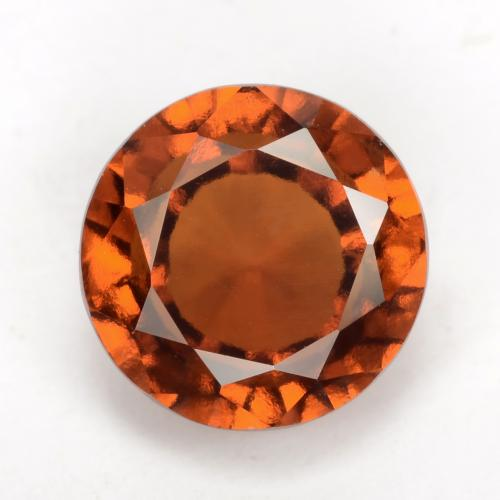 Amber Orange Granate Hesonita Gema - 2.5ct Faceta Redonda (ID: 539304)