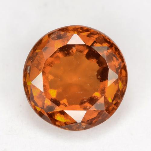 Medium-Dark Orange Granate Hesonita Gema - 2.3ct Faceta Redonda (ID: 539309)