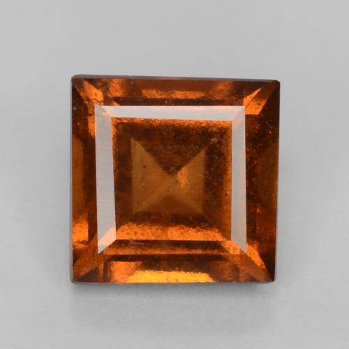 Deep Orange Hessonite Garnet Gem - 1.3ct Square Facet (ID: 539853)