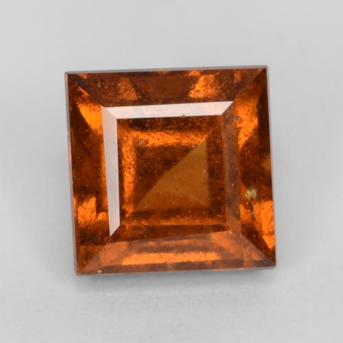 Dark Orange Granato essonite Gem - 1.5ct Taglio quadrato (ID: 539863)