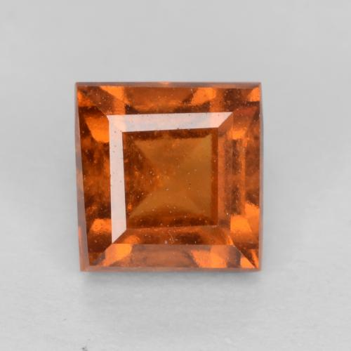 Medium-Dark Orange Granato essonite Gem - 1.1ct Taglio quadrato (ID: 540041)