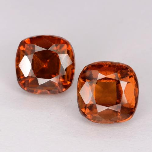 Medium Orange Hessonite Garnet Gem - 1.5ct Cushion-Cut (ID: 541534)