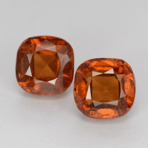 1.7ct Cushion-Cut Amber Orange Hessonite Garnet Gem (ID: 541557)