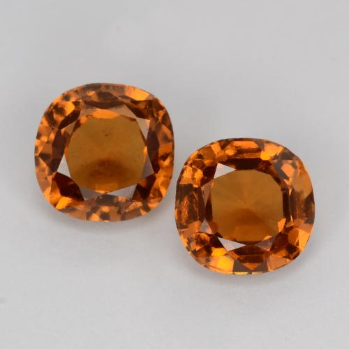 Medium-Dark Orange Hessonite Garnet Gem - 1.1ct Cushion-Cut (ID: 541559)
