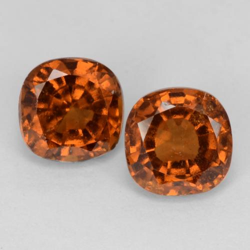 1.4ct Cushion-Cut Amber Orange Hessonite Garnet Gem (ID: 541716)