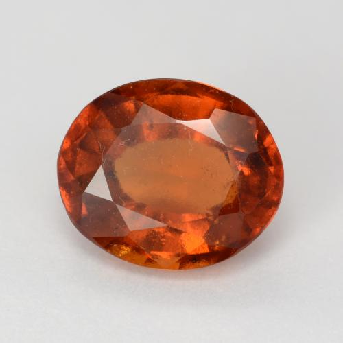 Dark Orange Granato essonite Gem - 2.8ct Ovale sfaccettato (ID: 543380)