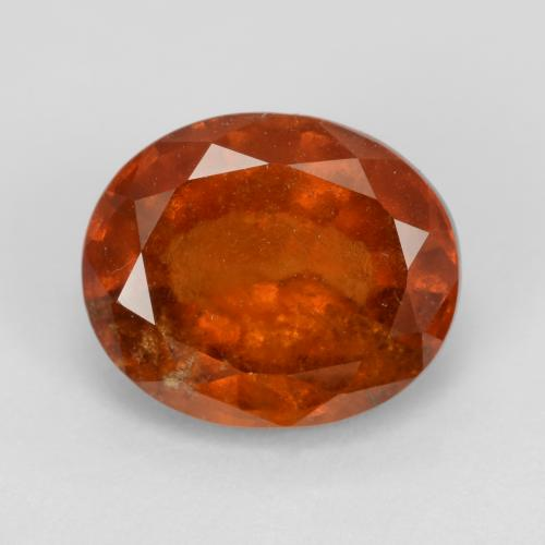 Fire Orange Granato essonite Gem - 3.5ct Ovale sfaccettato (ID: 543426)