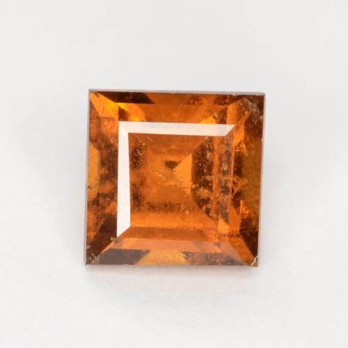 Medium-Dark Orange Granate Hesonita Gema - 1.3ct Forma cuadrada (ID: 547633)