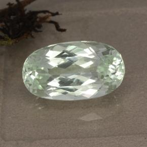 Light Sea Green Hiddenit Edelstein - 6.8ct Oval facettiert (ID: 474596)