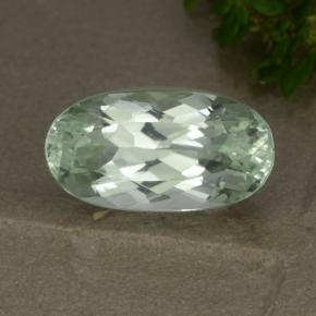Light Green Hiddenite Gem - 4.6ct Oval Facet (ID: 474751)