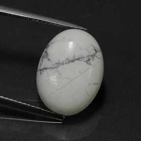 Buy 7.96ct Greyish White Howlite 16.31mm x 12.21mm from GemSelect (Product ID: 320970)