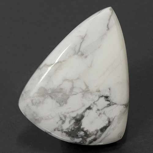 Multicolor White Howlite Gem - 71.7ct Pear Cabochon (ID: 501685)