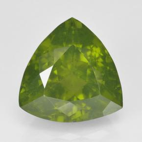 Olive Green Idocrase Gem - 3.4ct Trillion Facet (ID: 502113)