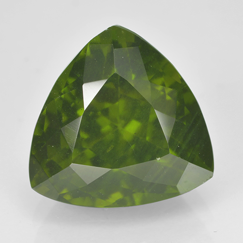 5.5ct Trillion Facet Olive Green Idocrase Gem (ID: 502115)