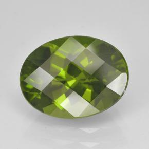 Olive Green Idocrase Gem - 3.3ct Oval Checkerboard (ID: 502118)