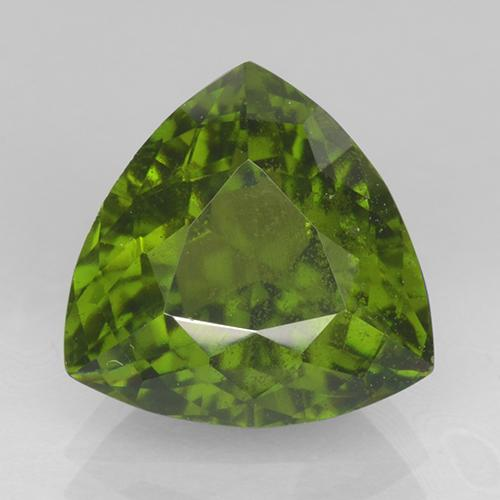4.2ct Trillion Facet Olive Green Idocrase Gem (ID: 503093)