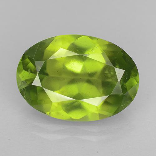 6.1ct Oval Facet Olive Green Idocrase Gem (ID: 503095)