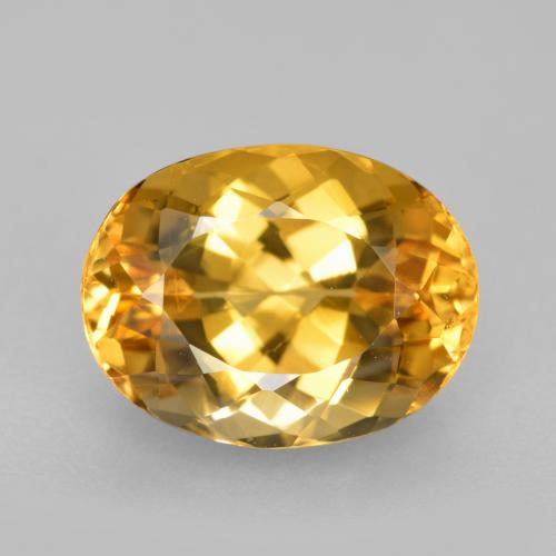 3.6ct Oval Facet Golden Imperial Topaz Gem (ID: 346566)