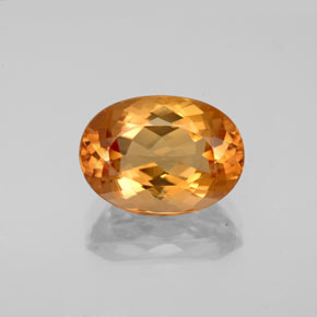 gold imperial topaz 4 2 carat oval from brazil natural and untreated gemstone. Black Bedroom Furniture Sets. Home Design Ideas