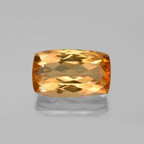 5.5ct Cushion-Cut Golden Orange Imperial Topaz Gem (ID: 346569)