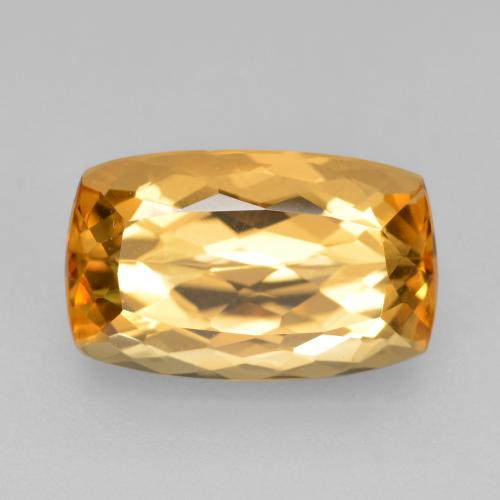 4.5ct Cushion-Cut Golden Orange Imperial Topaz Gem (ID: 346570)