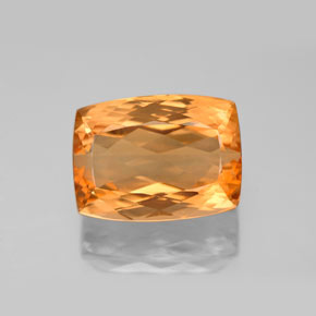 9.83 ct Cushion-Cut Golden Orange Imperial Topaz Gemstone 12.94 mm x 9.6 mm (Product ID: 346572)