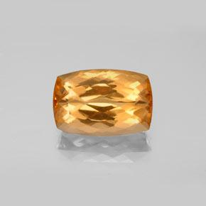 4.6ct Cushion-Cut Golden Orange Imperial Topaz Gem (ID: 346573)