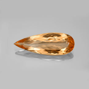 6.15 ct Pear Facet Intense Orange Imperial Topaz Gemstone 22.64 mm x 8.3 mm (Product ID: 346577)