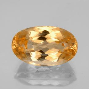 7.1ct Oval Facet Golden Orange Imperial Topaz Gem (ID: 346638)