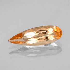 Tiger Orange Topacio Imperial Gema - 2.5ct Corte en forma de pera (ID: 346639)