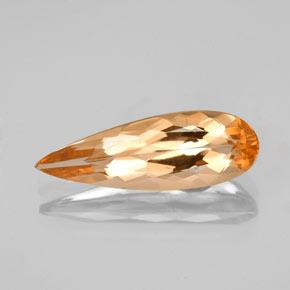 2.3ct Pear Facet Golden Orange Imperial Topaz Gem (ID: 346640)