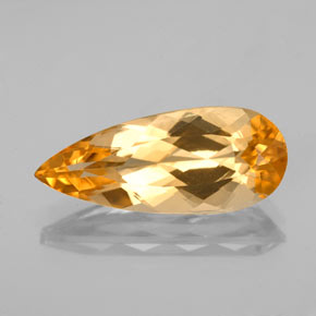 4.14 ct Pear Facet Golden Orange Imperial Topaz Gemstone 17.18 mm x 7.2 mm (Product ID: 346643)