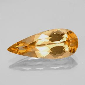 Intense Orange Topacio Imperial Gema - 3.8ct Corte en forma de pera (ID: 346644)