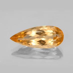Tiger Orange Topacio Imperial Gema - 5.4ct Corte en forma de pera (ID: 346645)